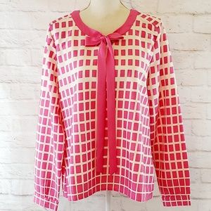 Downeast Pink Long Sleeve Blouse